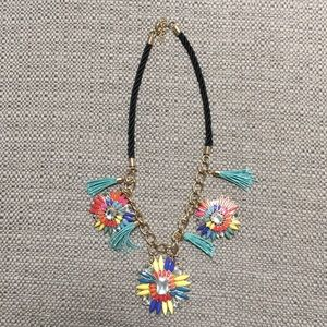 Flower Necklace with Tassels